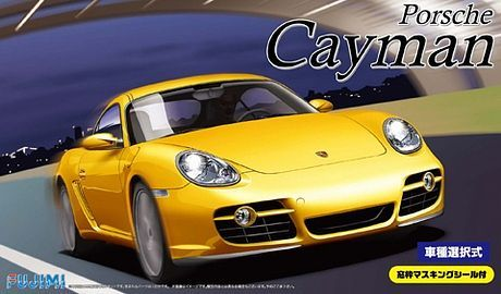 Fujimi 1/24 Porsche Cayman/Cayman S with Window Frame Masking Seal