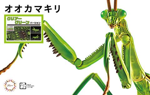 Fujimi Non Scale Biology Edition Big Mantis (Clear Green)