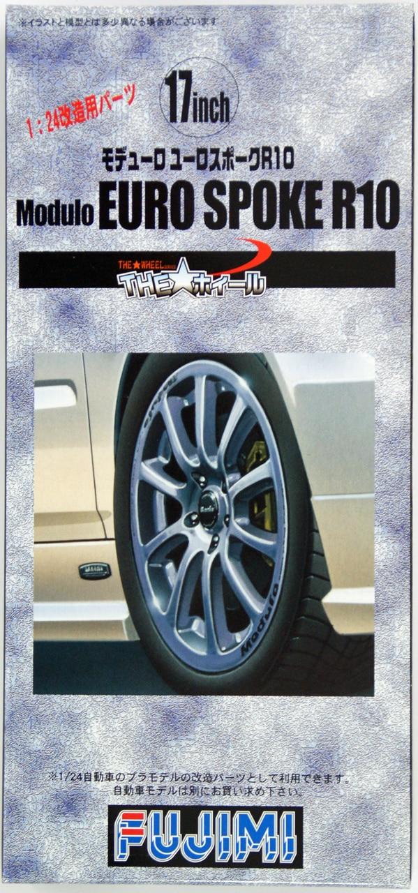 Fujimi 1/24 The Wheel Series (No.61) Modulo EURO Spoke R10 Wheel & Tire Set