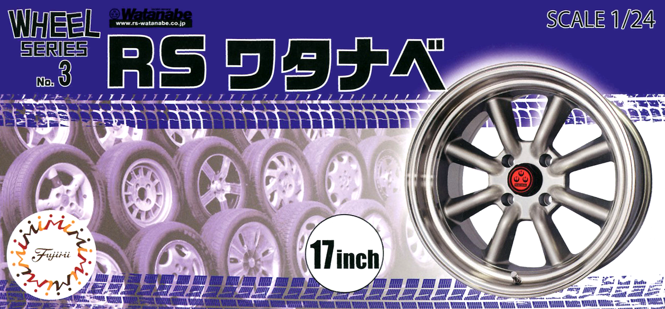 Fujimi 1/24 Wheel Series (No.3) RS Watanabe Wheel and Tire Set 17 inch