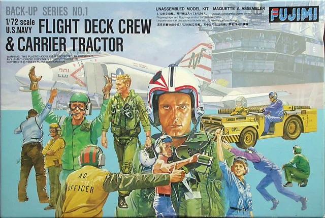 Fujimi Flight deck crews & MD-3 tractor (USN)