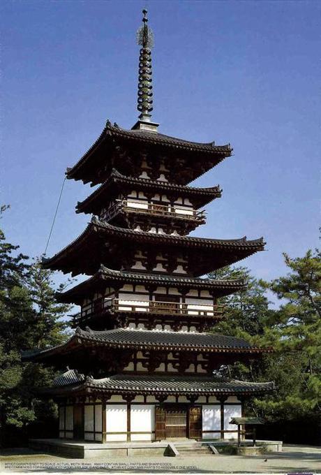 Fujimi 1/100 Yakushi-ji Eastern Pagoda Toh-Toh, World Culture Heritage