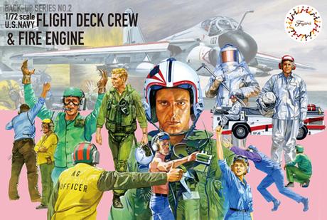 Fujimi 1/72 U.S.Navy Flight Deck Crew & Fire Engine
