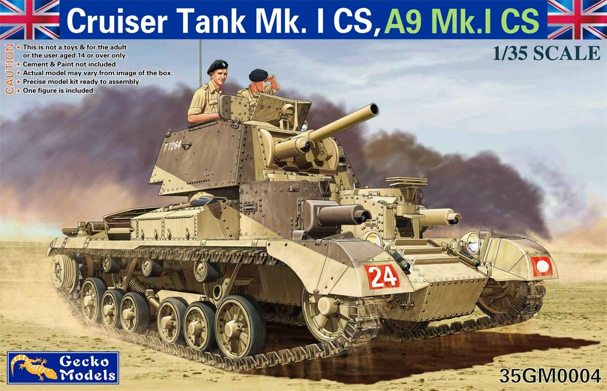 Gecko 1/35 Cruiser Tank Mk. I CS, A9Mk.I CS