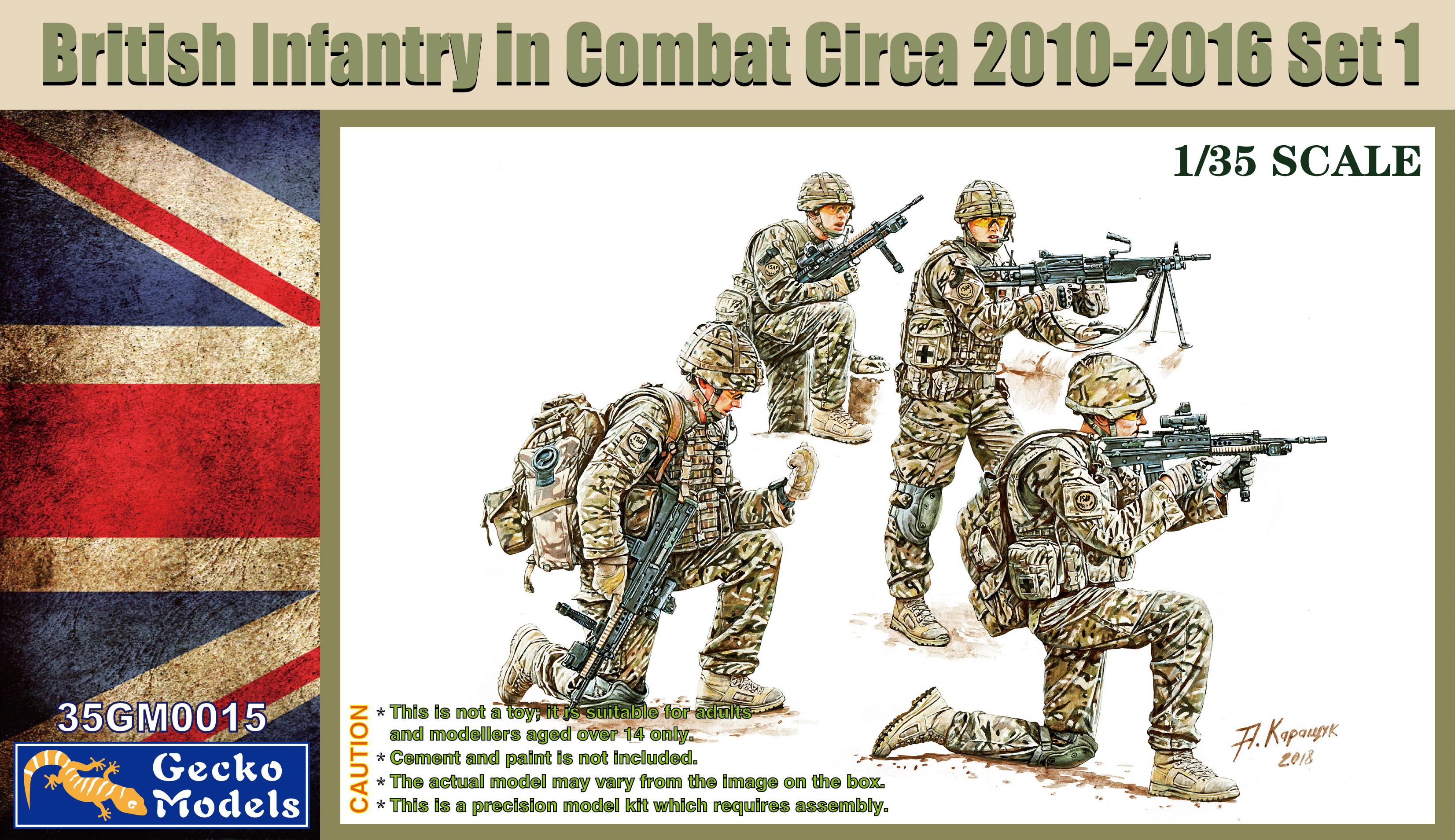 Gecko 1/35 British Infantry In Combat Circa 2010~2012 Set 1