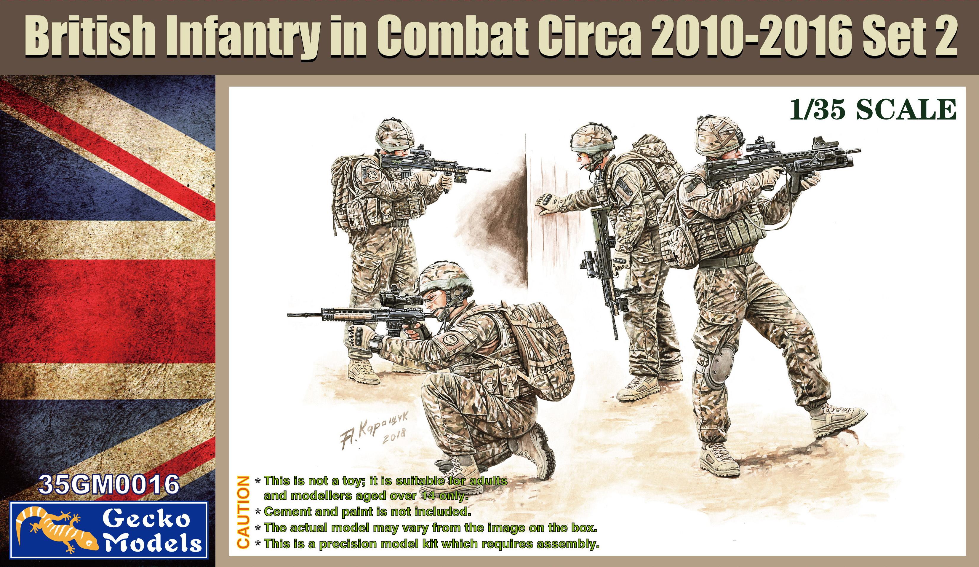 Gecko 1/35 British Infantry In Combat Circa 2010~2012 Set 2