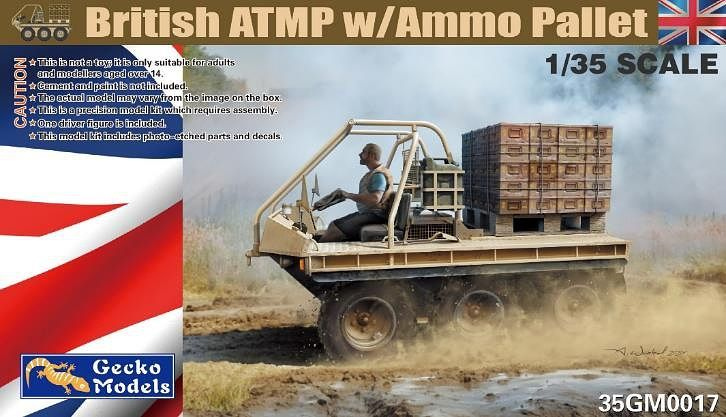 Gecko 1/35 British ATMP with Ammo Pallet