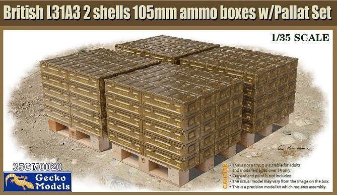 Gecko 1/35 British Ammo & Pallet Set
