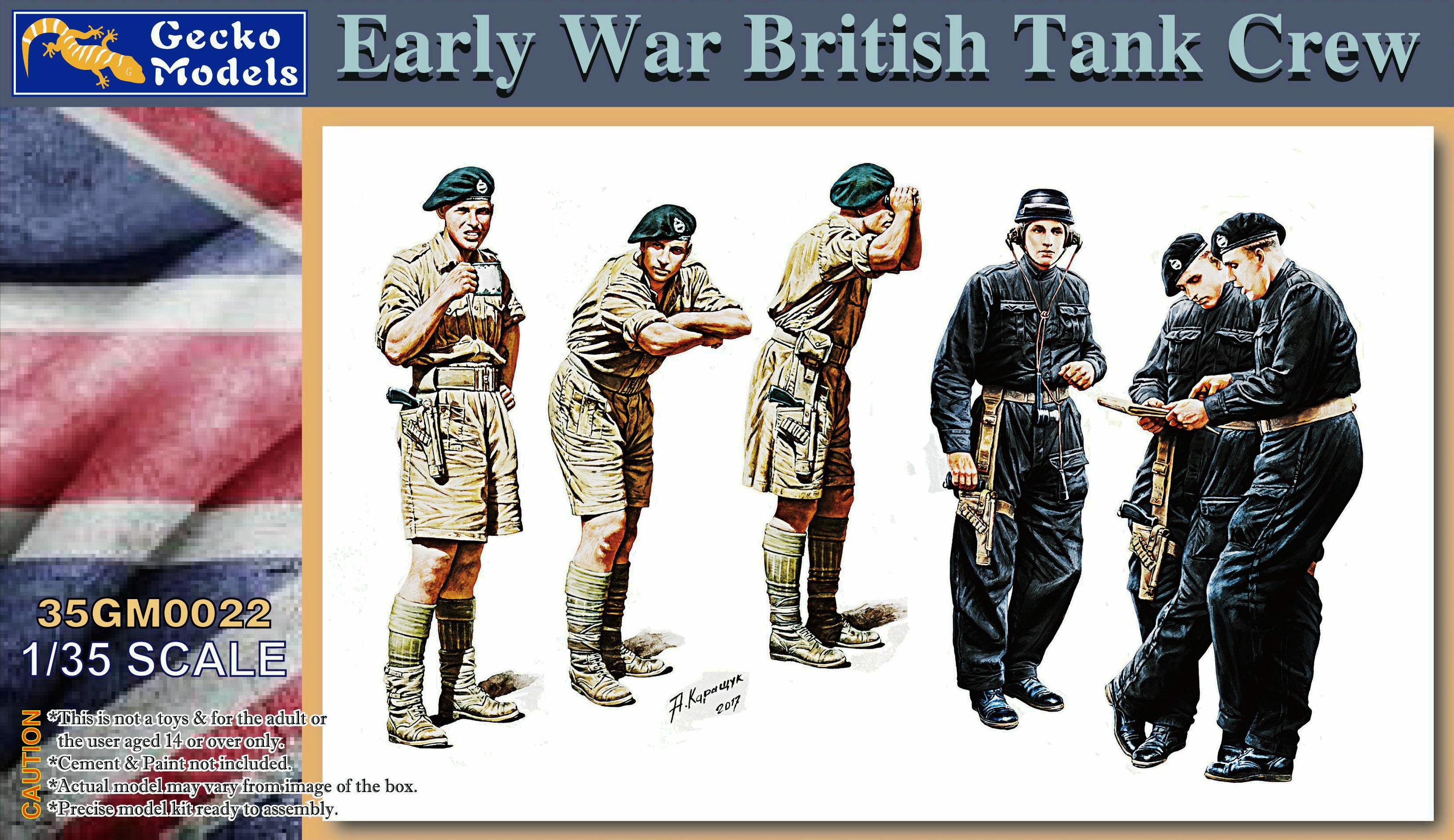 Gecko 1/35 Early War British Tank Crew