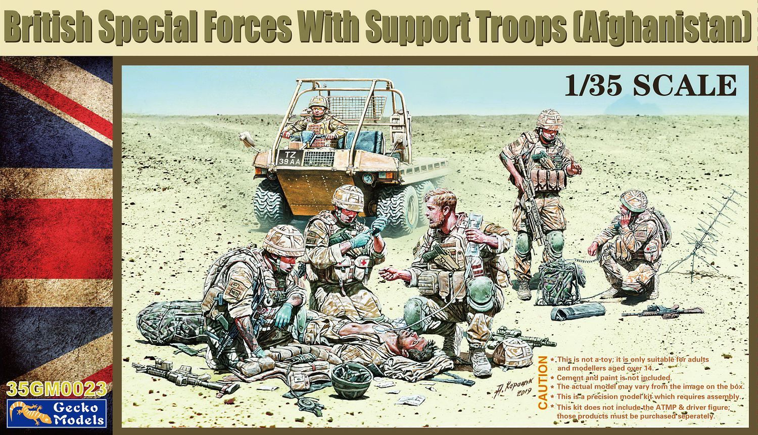 Gecko 1/35 British Special Forces with Support Troops (Afghanistan)