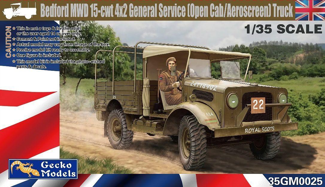 Gecko 1/35 Bedford MWD 15-cwt 4x2 GS Truck