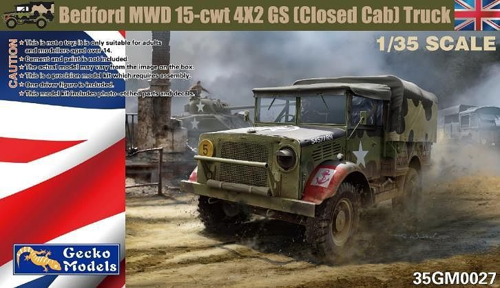 Gecko 1/35 Bedford MWD 15-cwt 4x2 GS Truck with Canvas Cover