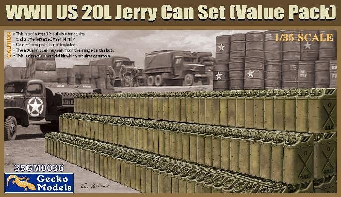Gecko 1/35 WWII US 20L Jerry Can Set