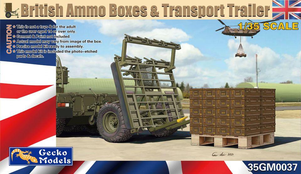 Gecko 1/35 British Ammo Boxes & Trailer