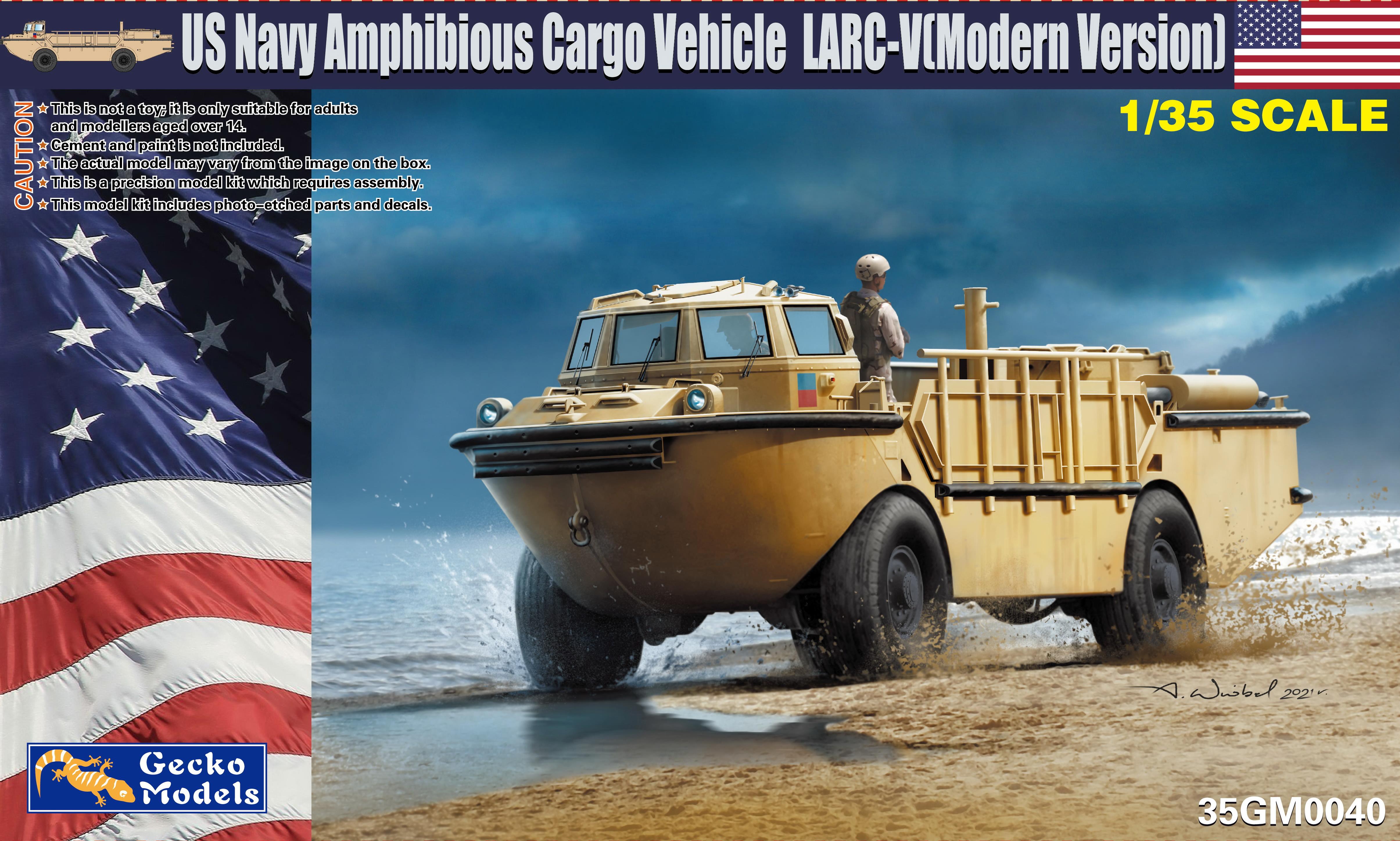 Gecko 1/35 Modern USN LARC-V w-Combat Rubber Raiding Craft