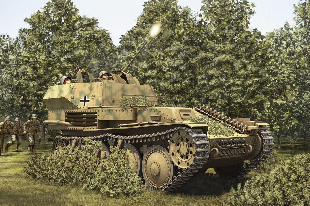 Hobby Boss 1/35 German 2cm Flak 38 Pz.Kpfw. 38 (t) SPAAG