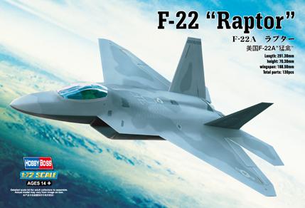 "Hobby Boss 1/72 F-22A ""Raptor"""