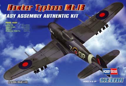 Hobby Boss 1/72 Hawker Typhoon Mk.IB Fighter