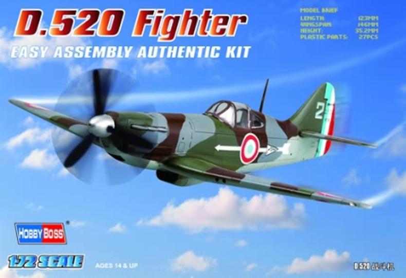 Hobby Boss 1/72 French D.520 Fighter