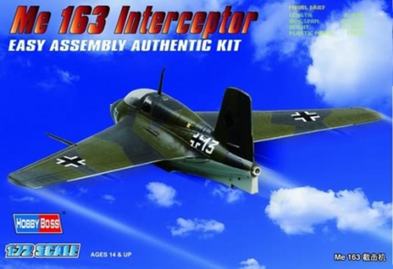 Hobby Boss 1/72 Germany Me163 Interceptor Fighter
