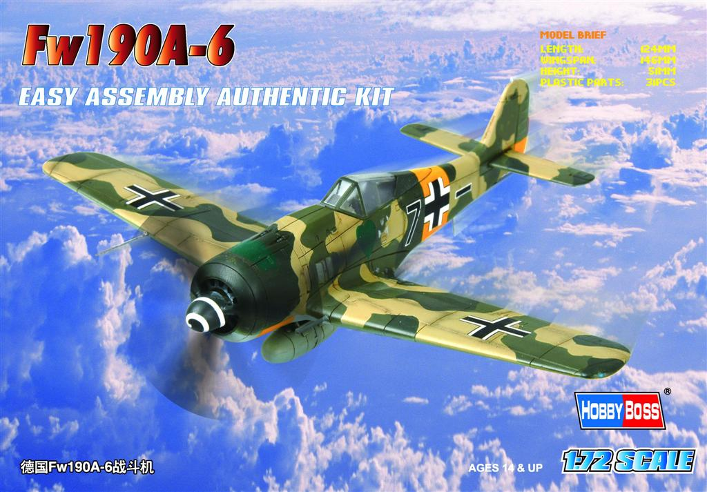 Hobby Boss 1/72 Germany Fw190A-6 Fighter