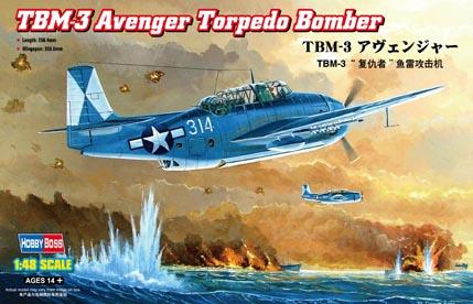 Hobby Boss 1/48 TBM-3 Avenger Torpedo Bomber