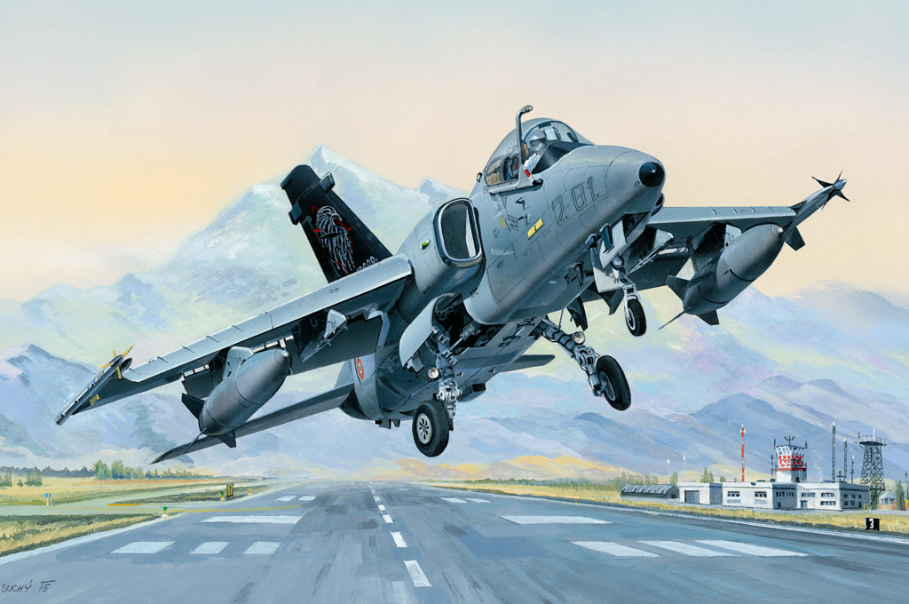Hobby Boss 1/48 A-11A Ghibli AMX Ground Attack Aircraft