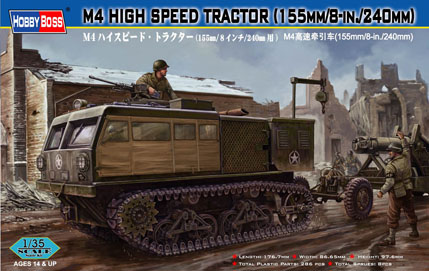 Hobby Boss M4 High Speed Tractor (155mm/8-in./240mm_