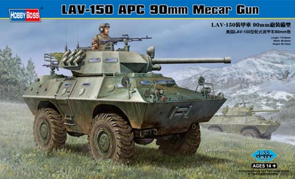 Hobby Boss 1/35 LAV-150 APC 90mm Mecar Gun