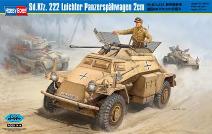 Hobby Boss 1/35 Sd.Kfz.222 Leichter Panzerspahwagen 2cm