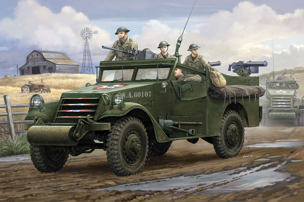 """Hobby Boss 1/35 M3A1 """"White Scout Car"""" Early Production"""
