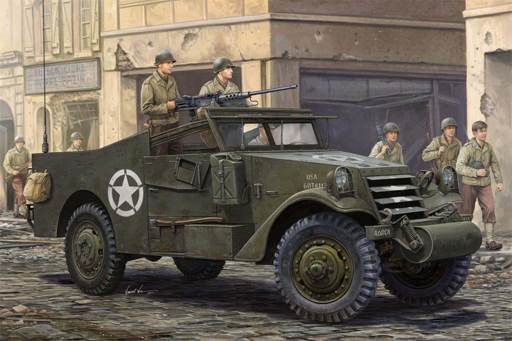 """Hobby Boss 1/35 M3A1 """"White Scout Car"""" Late Production"""