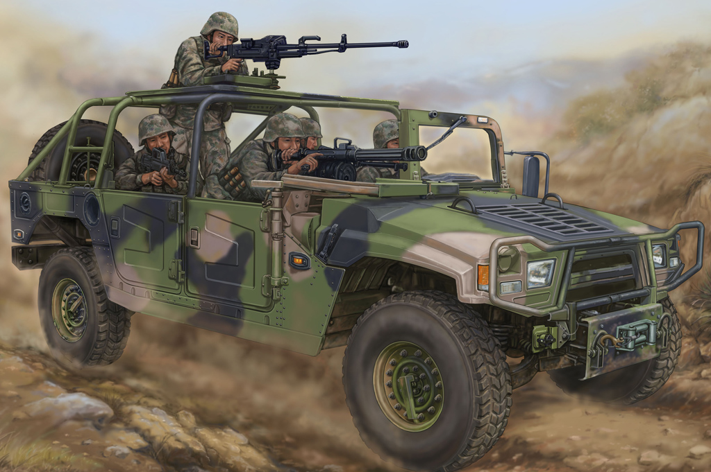 Hobby Boss 1/35 Dong Feng Meng Shi 1.5 ton Military Light Utility Vehicle- Convertible Version for Special Forces