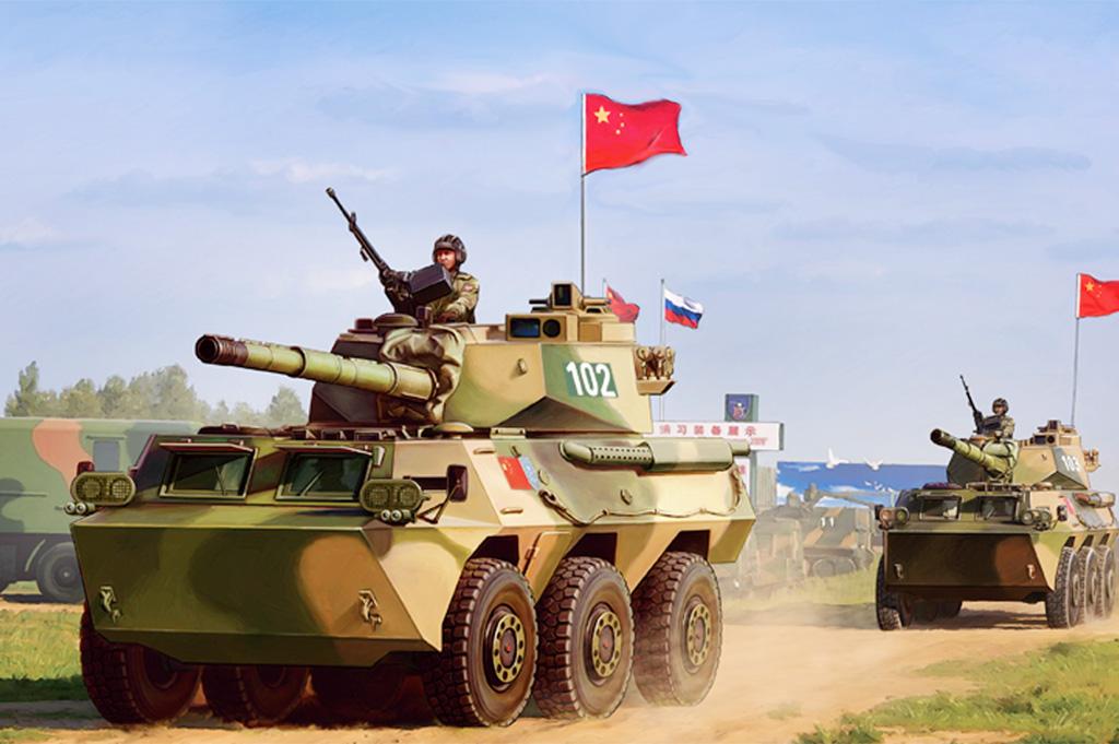 Hobby Boss 1/35 PLA PTL02 Wheeled Tank Destroyer