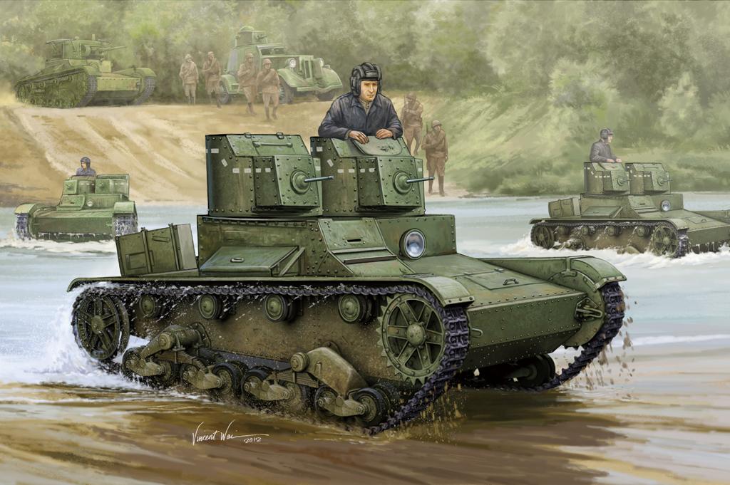 Hobby Boss 1/35 Soviet T-26 Light Infantry Tank Mod.1931