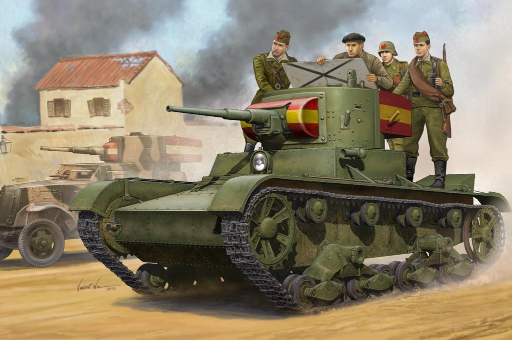 Hobby Boss 1/35 Soviet T-26 Light Infantry Tank Mod.1935