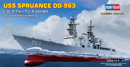 Hobby Boss 1/1250 USS Spruance DD-963