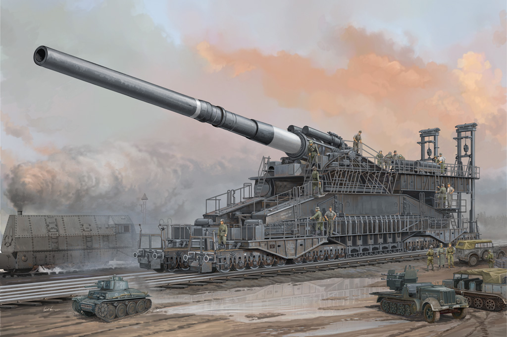 "Hobby Boss German 80cm K(E) Railway Gun ""Dora"""