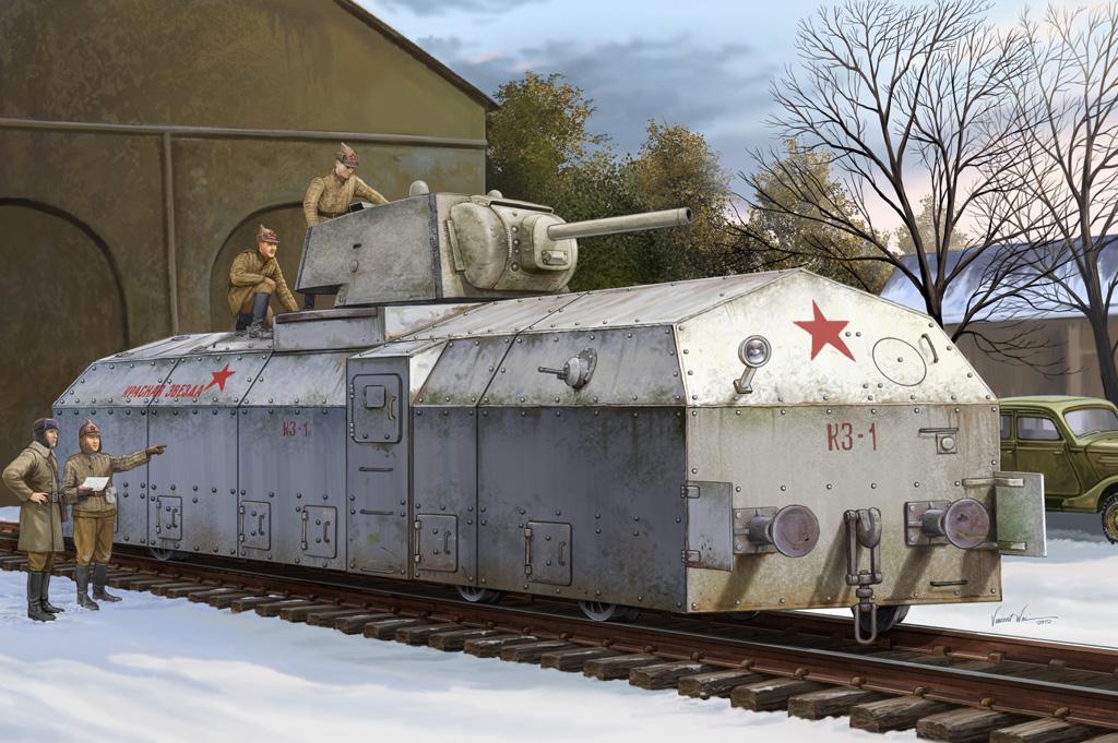 "Hobby Boss Soviet Draisine ""Krasnaja Zvezda"""