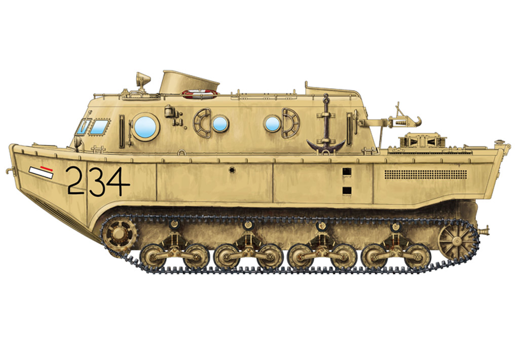 Hobby Boss 1/72 German Land-Wasser-Schlepper (LWS) amphibious tractor Early production