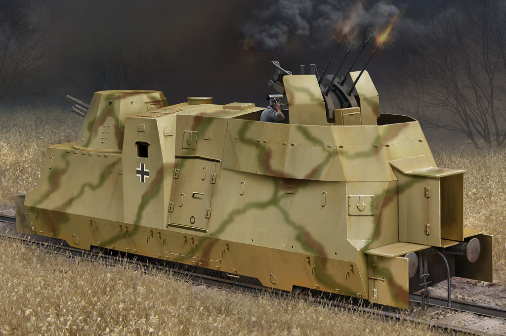 Hobby Boss German Kanonen und Flakwagen of BP42