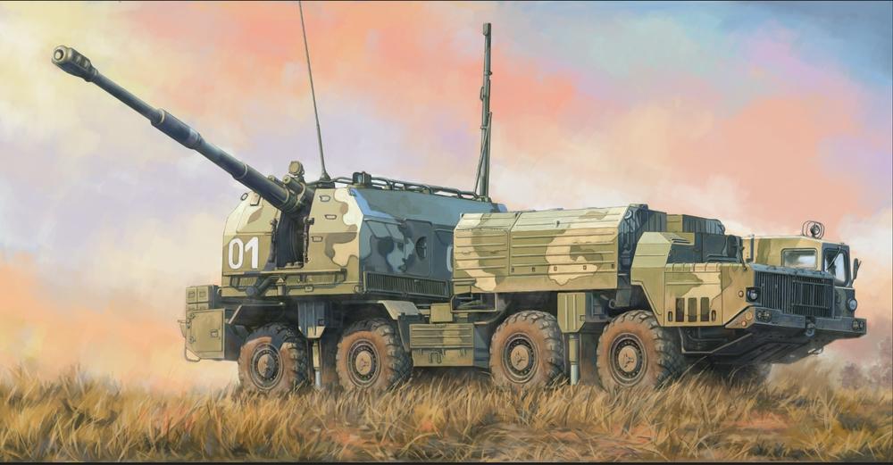 Hobby Boss 1/72 Russian 130mm Coastal Defense Gun A-222 Bereg