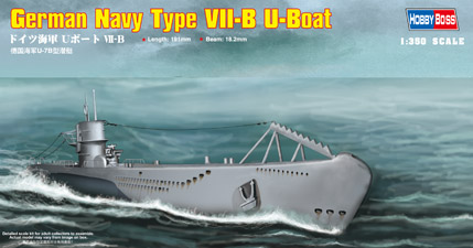 Hobby Boss German Navy Type VII-B U-Boat