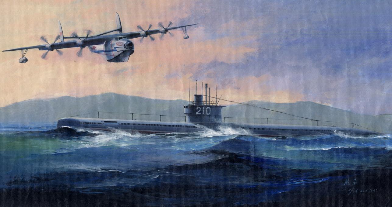 Hobby Boss 1/350 PLA Type 033 Submarine & SH-5