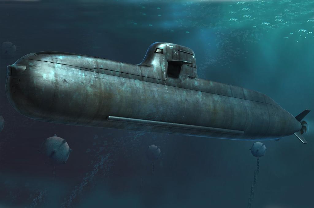 Hobby Boss 1/350 German Navy Type 212 Attack Submarine