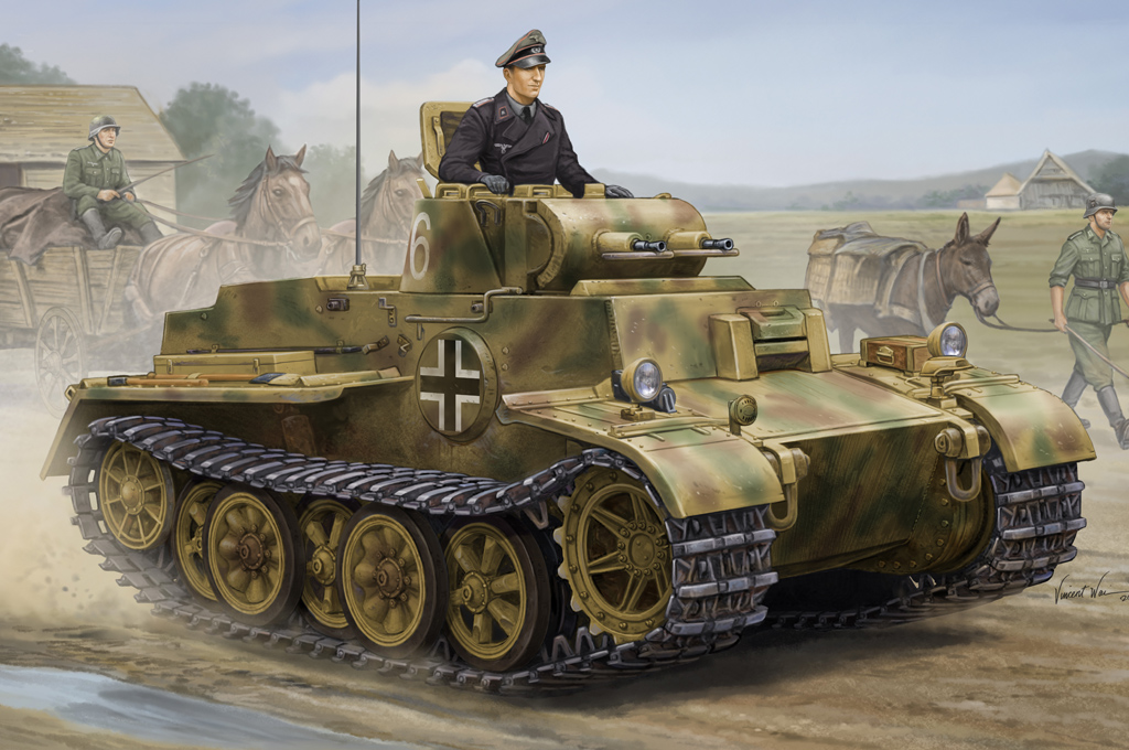 Hobby Boss German Pzkpfw.I Ausf.F (VK1801)-Late