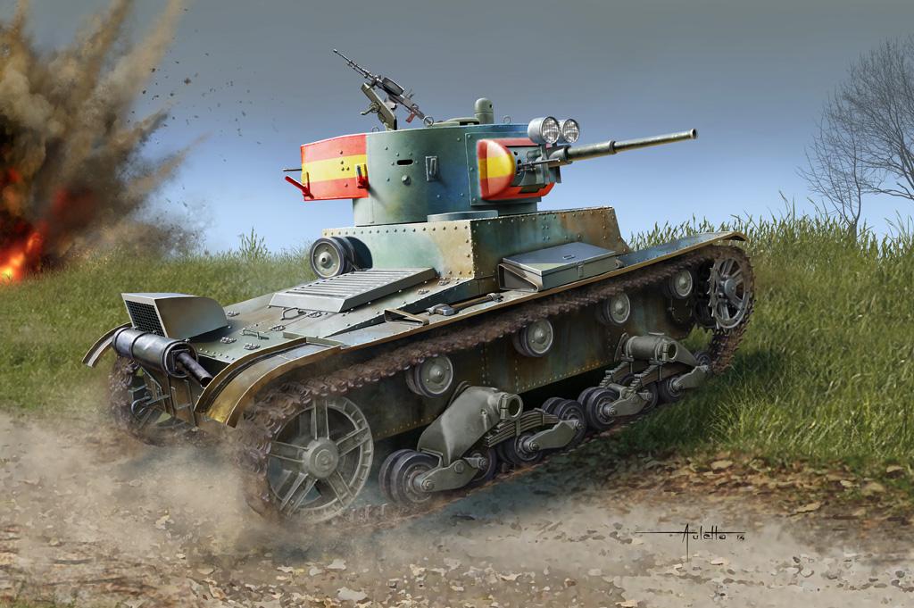 Hobby Boss 1/35 Soviet T-26 Light Infantry Tank Mod.1936/1937
