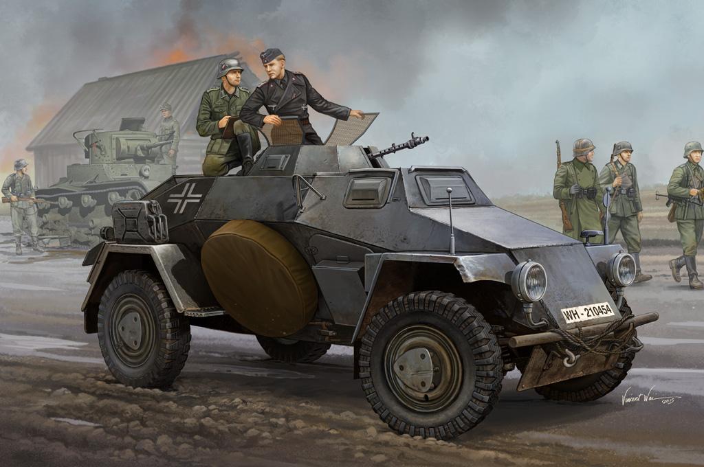 Hobby Boss 1/35 German Sd.Kfz.221 Leichter Panzerspahwagen (3rd Series)