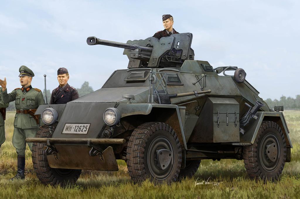 Hobby Boss 1/35 German Le.Pz.Sp.Wg?Sd.Kfz.221? Leichter Panzerspahwagen-Late