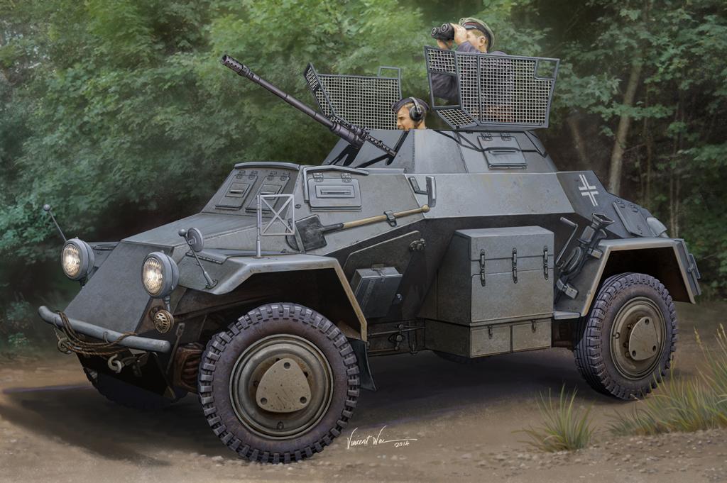 Hobby Boss 1/35 German Sd.Kfz.222 Leichter Panzerspahwagen (1st Series)